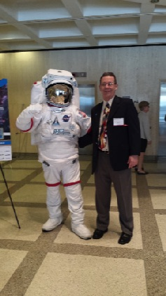 Saying hi to the astronaut during Dentist Day on the Hill in Tallahassee.